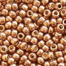 Toho 8/0 Seed Beads Permanent Finish Galvanised Almond PF593 - 10 grams